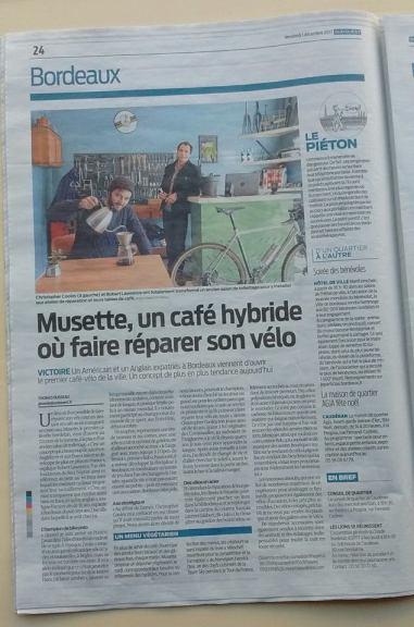 Musette Bordeaux Sud Ouest cafe velo