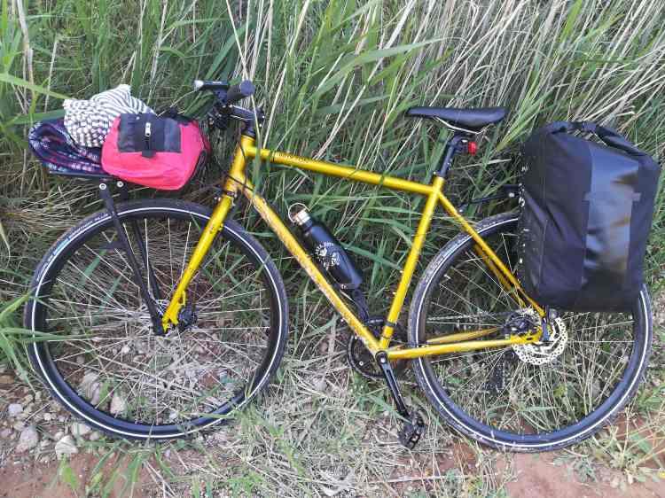 Genesis gravel bike Brixton cutomised