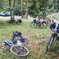 bikes-by-lake-camping-france